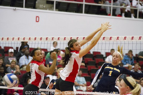 Austin Peay Volleyball hosts two OVC matches this weekend. (David Roach-Clarksville Sports Network)
