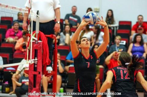 Austin Peay Volleyball's Aubrey Marsellis.