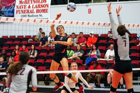 Austin Peay Women's Volleyball. (Michael Rios-Clarksville Sports Network)