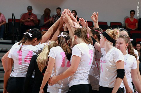 Austin Peay State University Volleyball Team. (Brittney Sparn/APSU Sports Information)