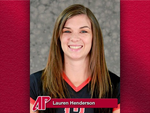 Austin Peay Senior middle blocker Lauren Henderson capped her career with OVC all-tournament honors, Saturday.