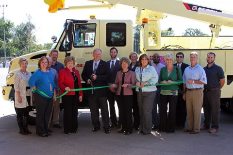 Clarksville Department of Electricity Green Certification ribbon cutting.
