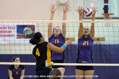 Clarksville High School High School defeats Kenwood High School in District 10-AAA Volleyball.