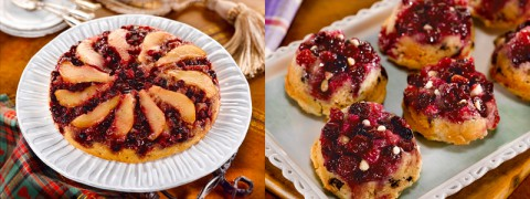Cranberry Pear Upside-Down Almond Cake and Mini Cranberry Chocolate Upside-Down Cakes.