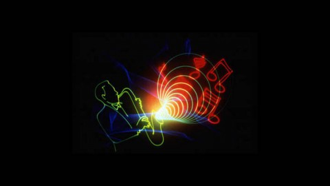 LBL's Golden Pond Planetarium Laser Image