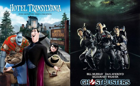 Hotel Transylvania and Ghostbusters Double Feature at Clarksville's Movies in the Park Saturday, October 19th