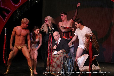 The cast from the 2013 production of the Rocky Horror Picture Show