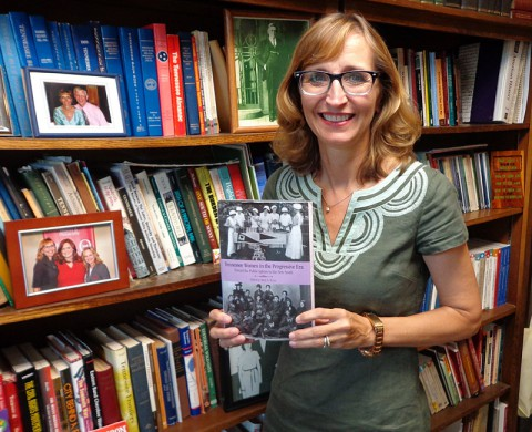 "APSU's Dr. Minoa Uffelman with her book ""Tennessee Women in the Progressive Era: Toward the Public Sphere in the New South"""