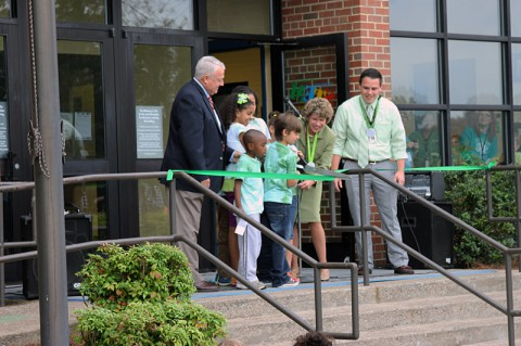 Moore Magnet School Green Certification Ribbon Cutting Ceremony.