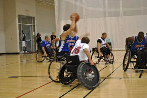 Music City Lightning wheelchair basketball team.