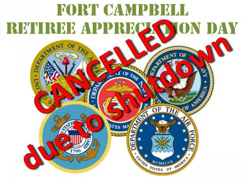 Fort Campbell Retiree Appreciation Day cancelled due to Government Shutdown
