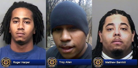 Wanted: (L to R) Roger Weems Harper, Troy Amir Allen and Matthew Jerard Barnhill.