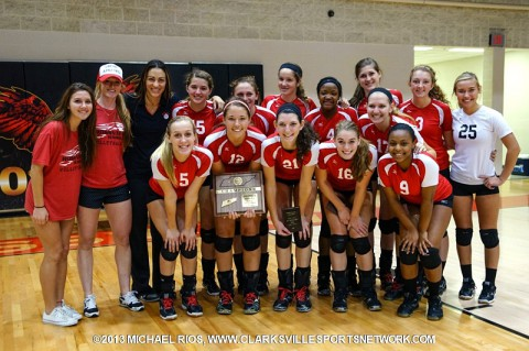 Rossview High School Volleyball Team-District 10-AAA Volleyball Champions. (Michael Rios-Clarksville Sports Network)