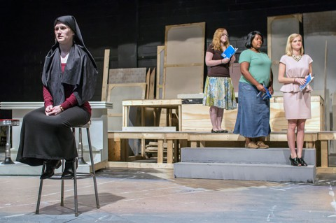 "Austin Peay State University students rehearse a scene from ""Nunsense."""
