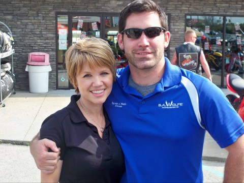 Byron and Kris Wolfe at the B.A. Wolfe Military Appreciation Event, 2011