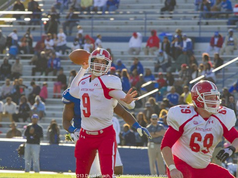 Austin Peay Football loses OVC matchup to Tennessee State Tigers.