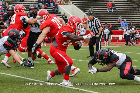 Austin Peay runningback Omar Williams rushed for 108 yards on 18 carries Saturday against SEMO.
