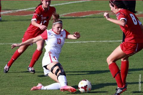 Austin Peay's Shelby Olszewski gets late goal to lift Lady Govs to semifinals. (Brittney Sparn/APSU Sports Information)