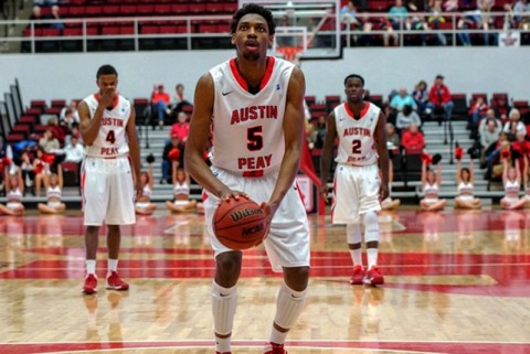 APSU's Chris Horton had 20 points and 11 rebounds in Governors loss to SIU Edwardsville Thursday. (Michael Rios-Clarksville Sports Network)