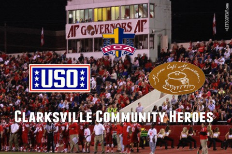 APSU Athletics honors Community Heroes. (APSU Sports Information)