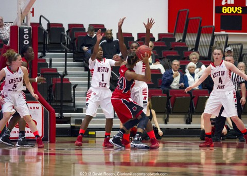 Austin Peay Women's Basketball falls to Arkansas State 79-69 in Clarksville. (David Roach Clarksville Sports Network)