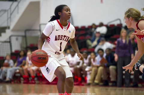 Sophomore Tiasha Gray led Austin Peay with a 15-point outing at Eastern Illinois, Saturday. (Clarksville Sports Network)