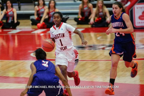 APSU's Tiasha Gray had 14 points, 8 rebounds, and 6 assists in loss to Evansville Purple Aces. Austin Peay Women's Basketball.