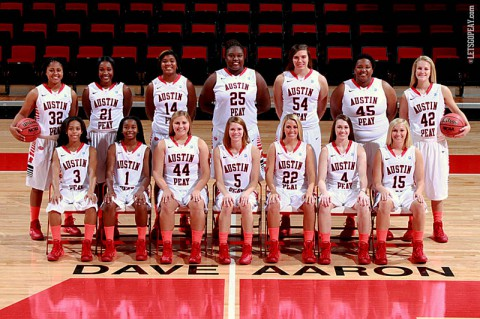 Austin Peay women's basketball team will give fans a glimpse of the 2013-14 squad when it hosts Martin Methodist in a 2:00pm, Sunday contest. (Brittney Sparn/APSU Sports Information)