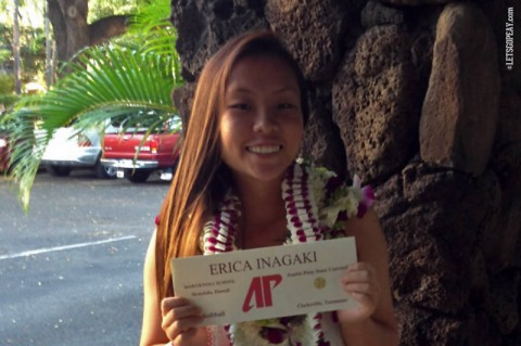 Erica Inagaki. (APSU Sports Information)