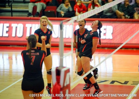 Austin Peay Women's Volleyball on four-match road trip.
