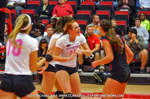 Austin Peay Women's get OVC Tournament win over Southeast Missouri Thursday. (Michael Rios-Clarksville Sports Network)