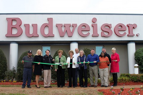Clarksville-Montgomery County Green Certification ribbon cutting for Budweiser of Clarksville.