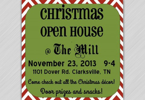 Christmas Open House at The Mill this Saturday.