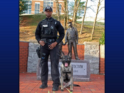 Clarksville Police K-9 Officer Keith Jones and Koda
