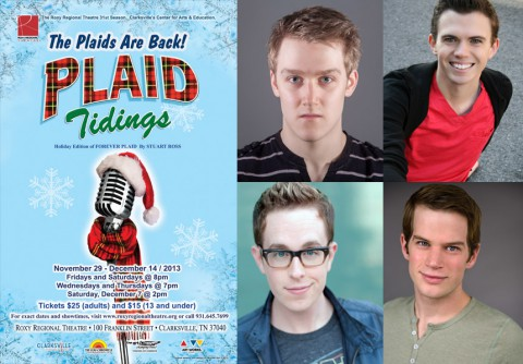 """Plaid Tidings"" at the Roxy staring (top left to right), Michael Spaziani, Ryan Bowie, RJ Magee, and Josh Bernaski."