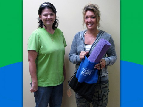 Prize Pack Winner Lynne Carter (right).