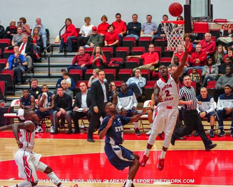 Austin Peay Men's Basketball falls to ETSU at home 80-74.
