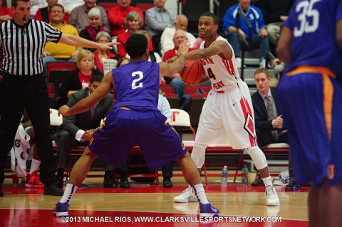Austin Peay's Travis Betran score 24 Monday night against Dalton State.