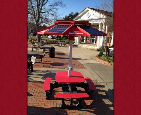 New solar picnic table on APSU campus