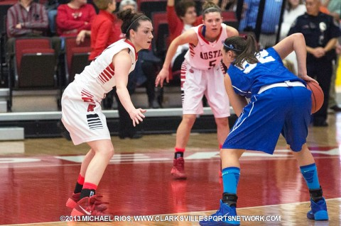 Austin Peay Women's Basketball to face UT Martin Monday.