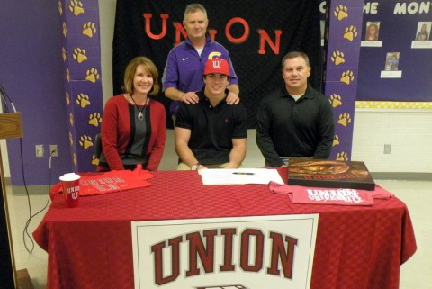 Brady Cook signs with Union University. (Jeff Williams-Clarksville Sports Network)