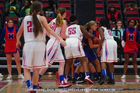 Montgomery Central Girl's Basketball defeats Northwest at Dover Tournament. (Michael Rios Clarksville Sports Network)