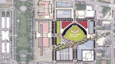 New Nashville Sounds Ballpark to be built at Sulphur Dell and completed in time for the 2015 season.