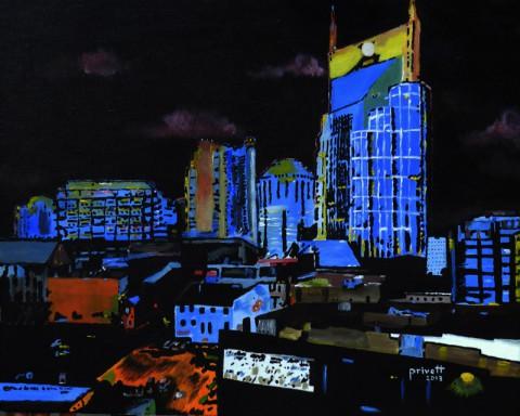 Bob Privett's Cityscape in Blue