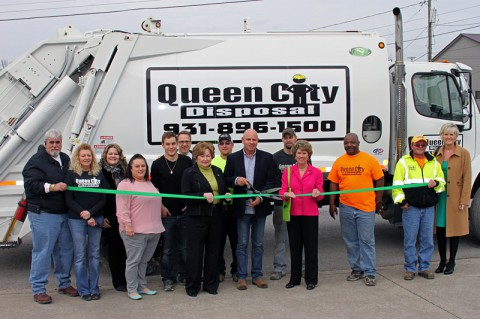 Clarksville-Montgomery County Green ribbon cutting ceremony for Queen City Disposal.