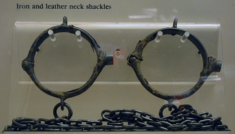Neck shackles, circa 1840. (Collection of Tennessee State Museum)