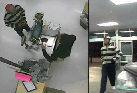 Two photos of the Identity Theft Suspect.
