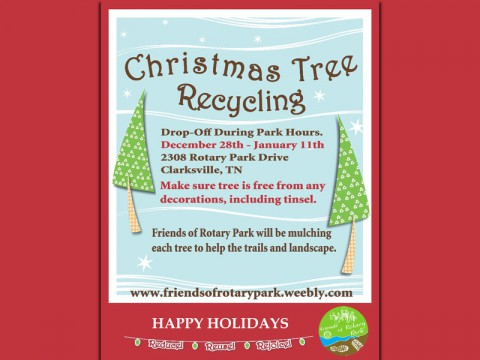 Friends of Rotary Park Christmas Tree Recycle program