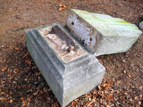 Vandalism at Greenwood Cemetery