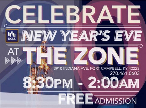 New Year's Eve Party at Fort Campbell's The Zone